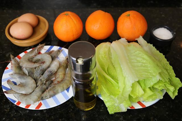 Ingredientes para ensalada de naranjas