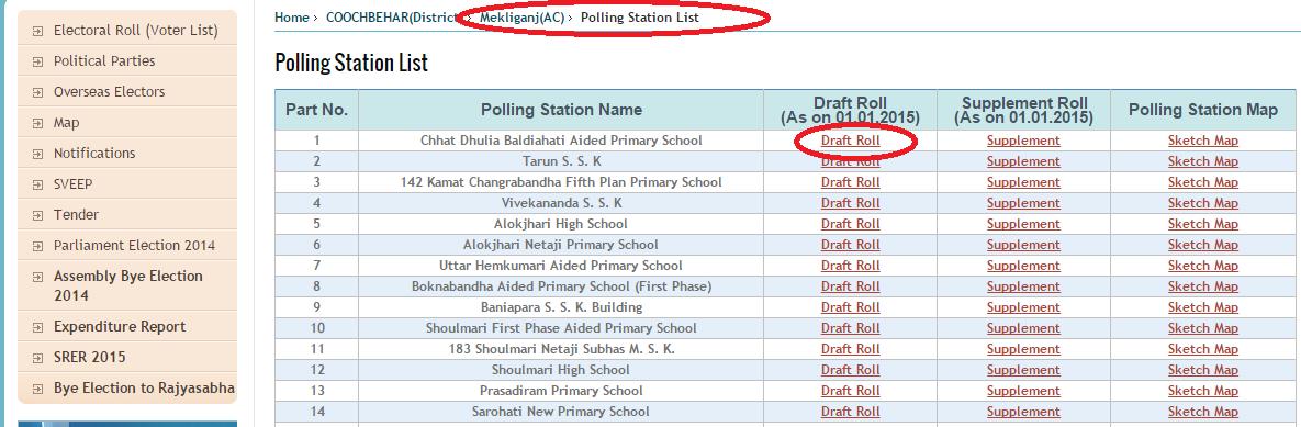 VOTER LIST 2016-2017 INDIA