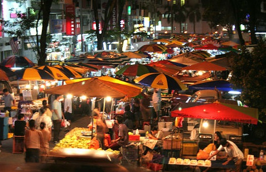 The Penang Night Market always pulls in a crowd