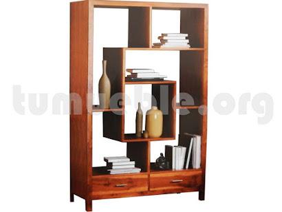 mueble libreria en teca 4124