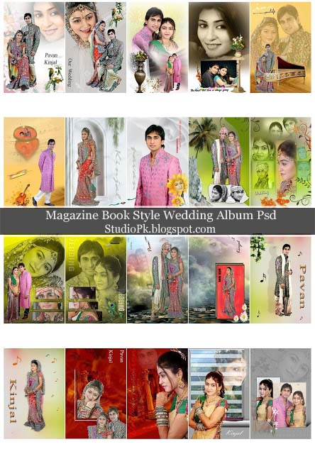 Magazine Book Style Wedding Album Psd