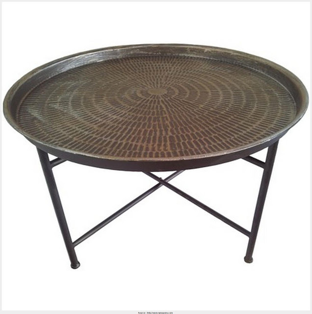 Nice Round Metal Coffee Table Graphic