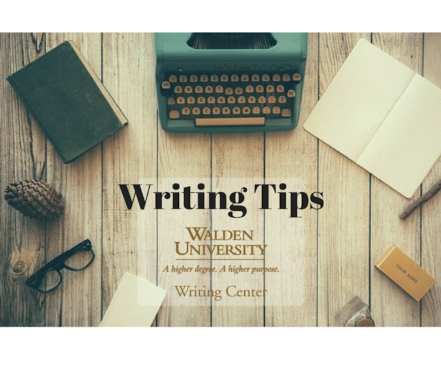 Writing Tips from the Walden Writing Center