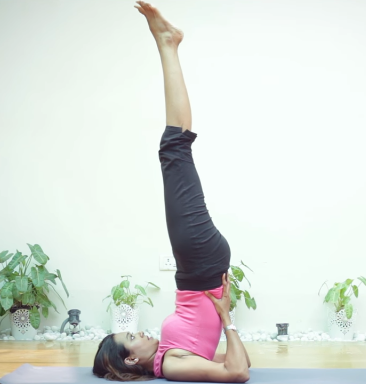 Yoga Posture Guide - The Shoulder-stand Pose (Sarvanga-asana)