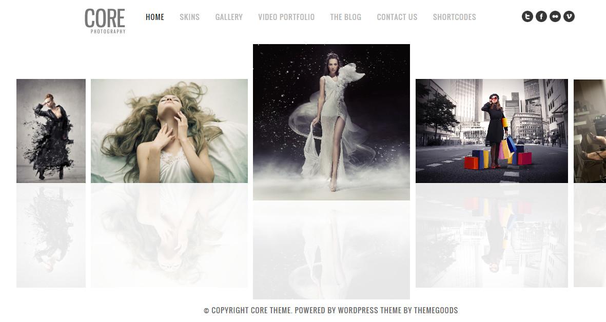 Core Minimalist Photography Portfolio Theme