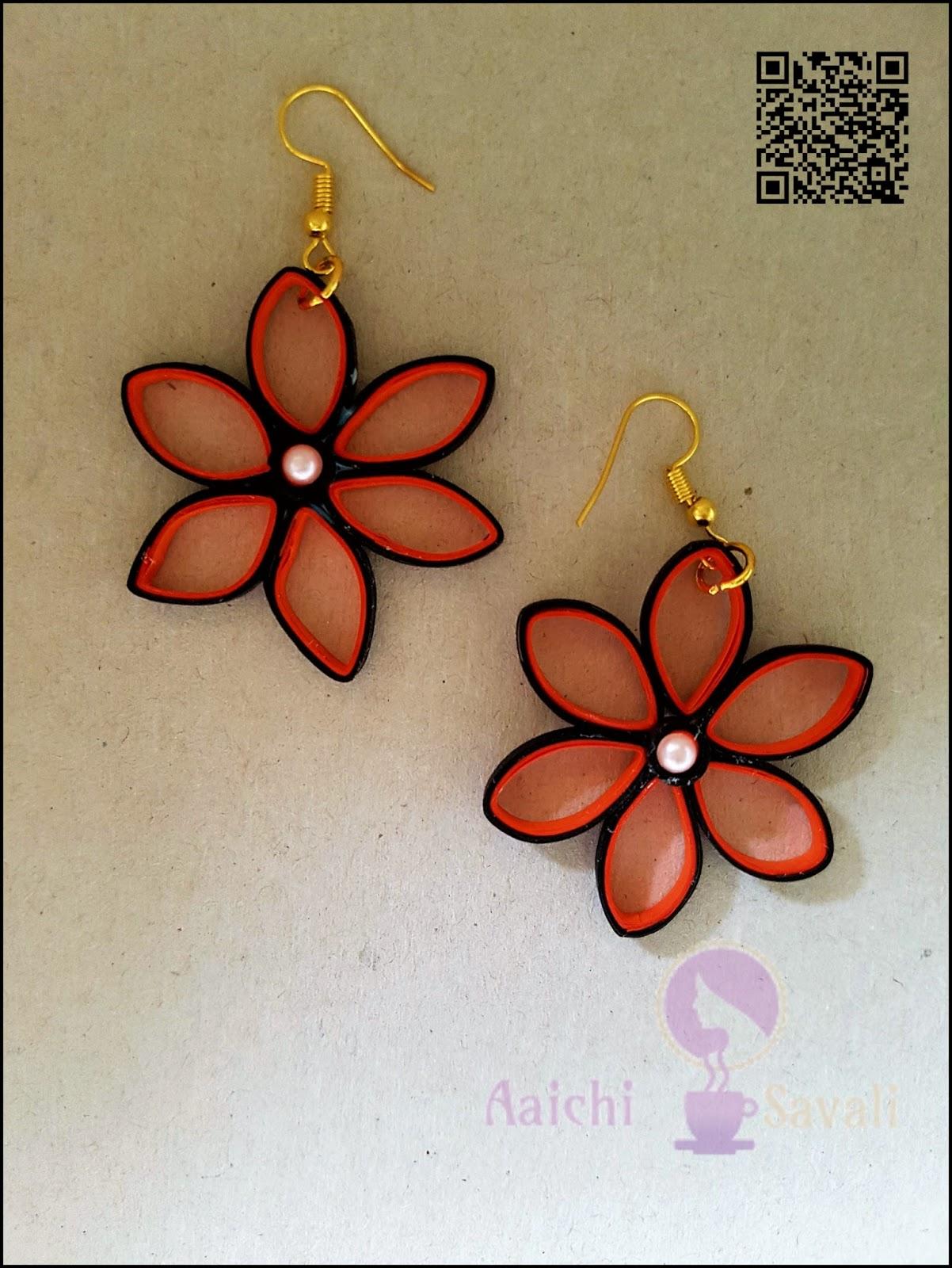a88ec4e26 quilling paper flower earrings - Cablo.commongroundsapex.co