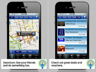 Geomium is a mobile location-based social networking app for iPhone