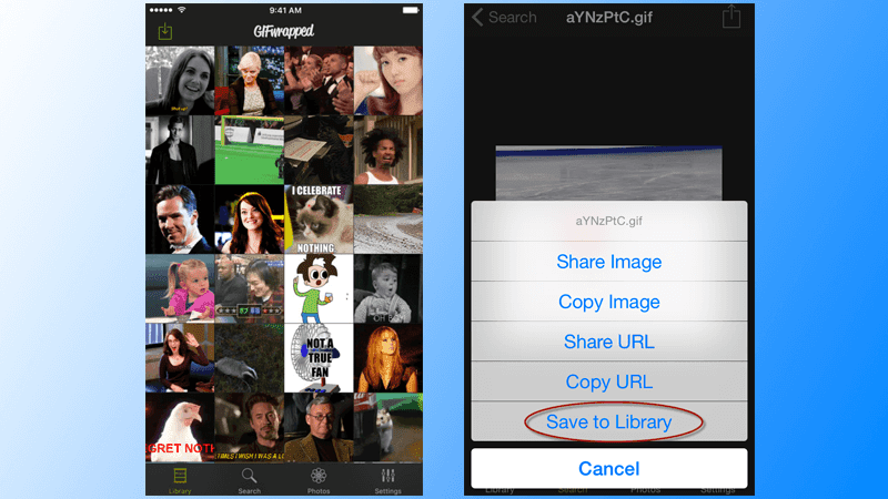 save gif images on iphone