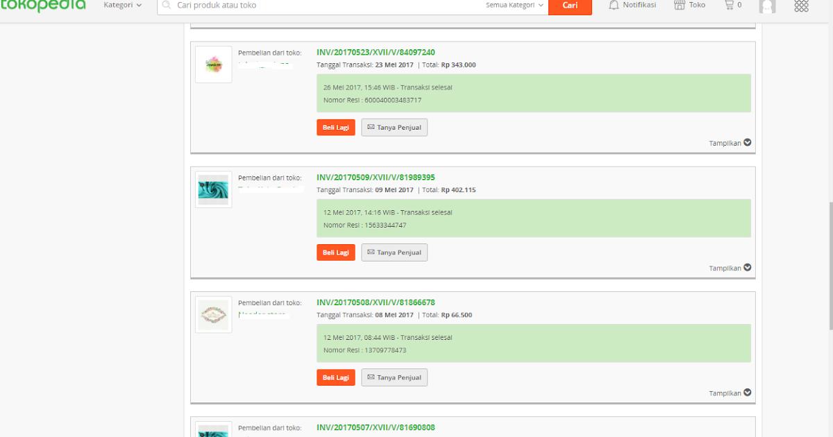 Belanja Di Tokopedia Pengalaman Saya 20 Kali Transaksi Order