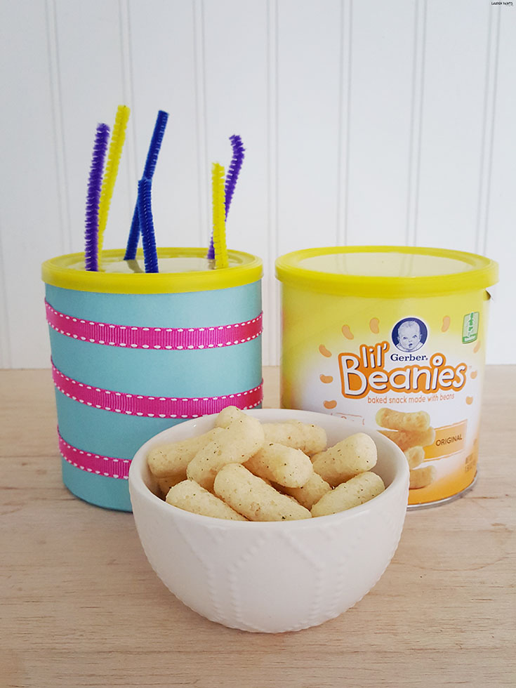 Keep your little one's brain active and their appetite satisfied with this Gerber Lil Beanies inspired DIY sensory toy! #GerberWinWin