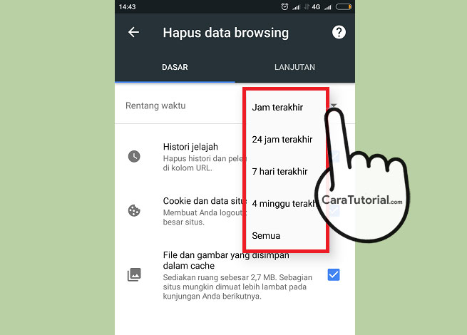 Cara Menghapus History Browsing Google Chrome Android