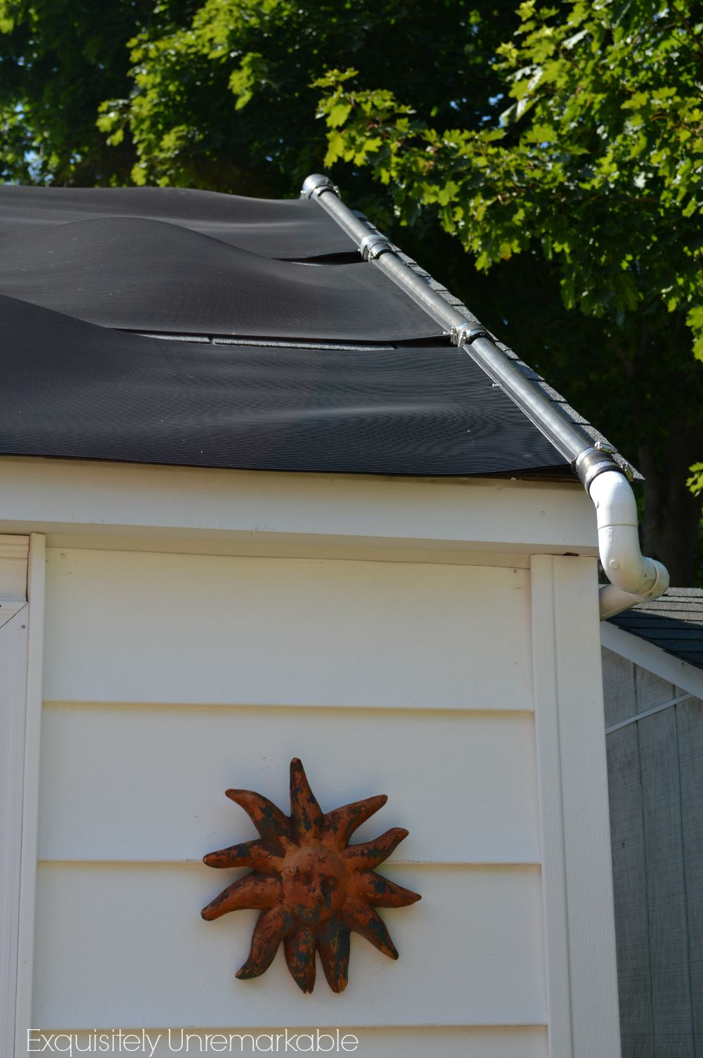 Solar Pool Heater And My Ugly Garage Exquisitely Unremarkable