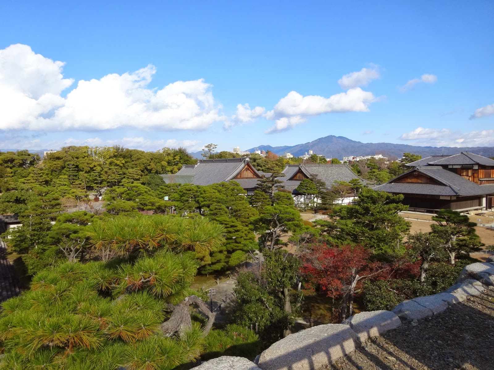 View of Nijo Castle and gardens in Kyoto
