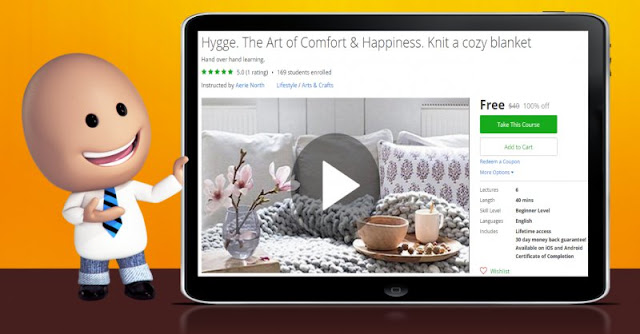 [100% Off] Hygge. The Art of Comfort & Happiness. Knit a cozy blanket| Worth 40$