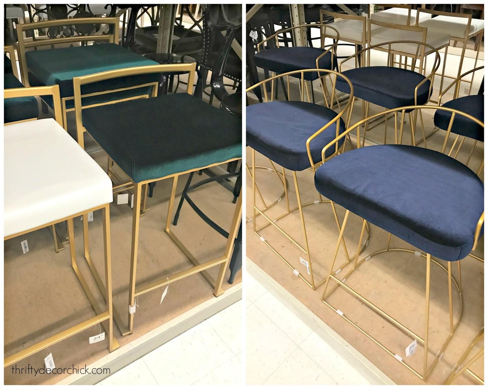 modern brass counter stools