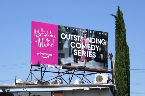 Marvelous Mrs Maisel Emmy nominee billboard