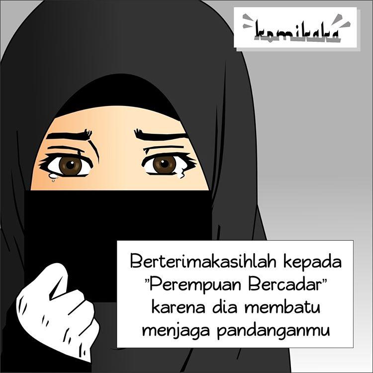 Gambar DP BBM Wanita Muslimah Bercadar