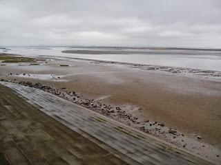Vistas desde el paseo marítimo de Burnham-on-Sea