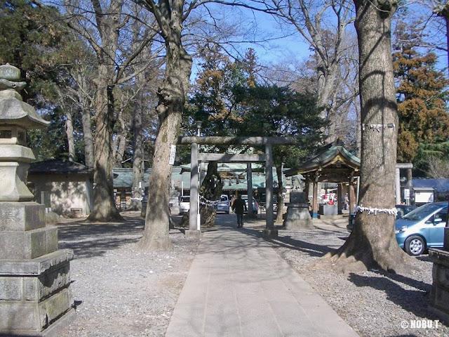 一言主神社(茨城県常総市)の参道
