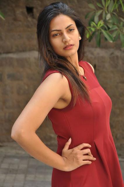 Sweta Varma Stills In Maroon Dress