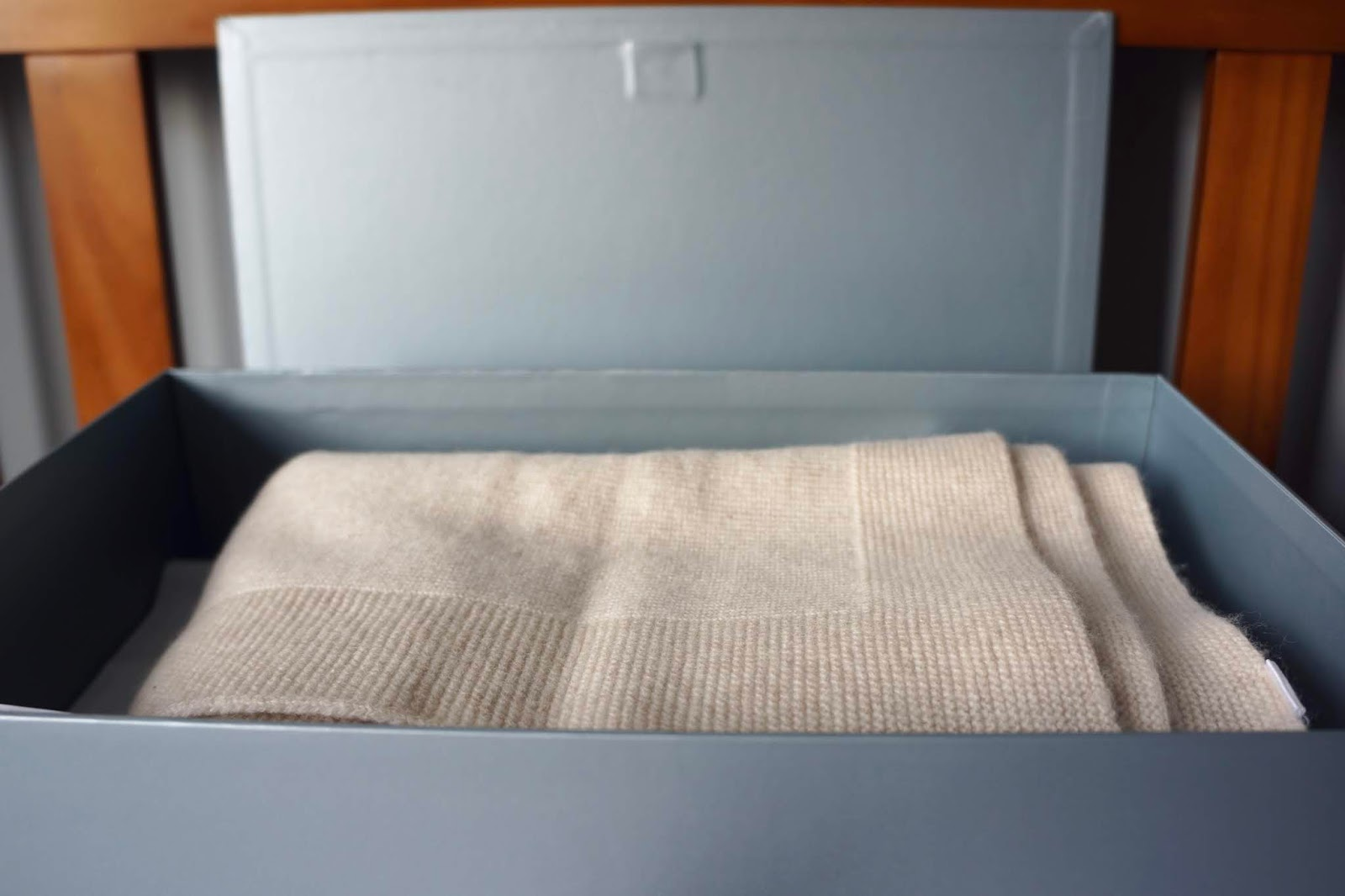beige merino wool baby blanket