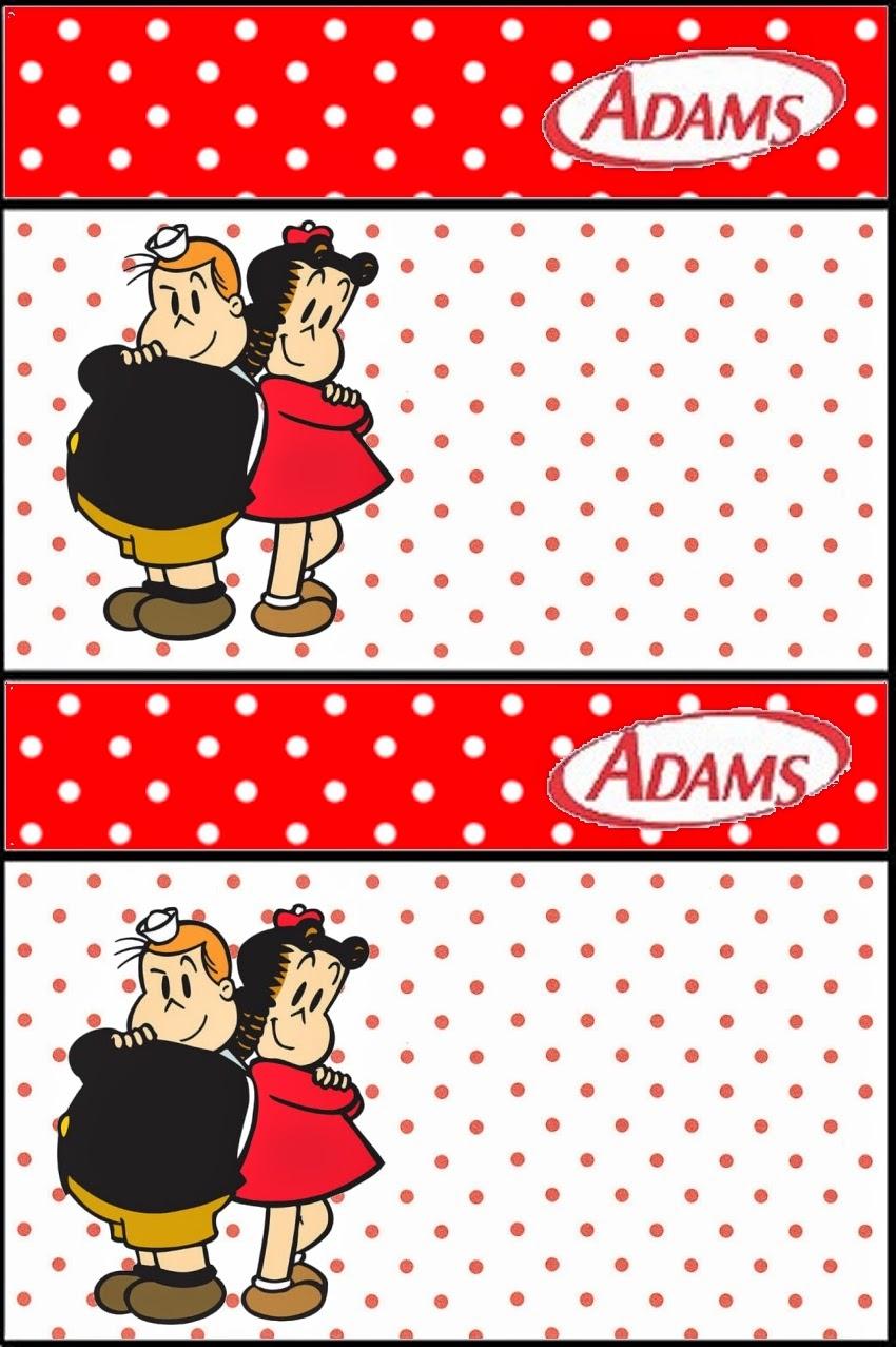 Etiqueta Golosinas Adams para Imprimir Gratis de La Pequeña Lulú.