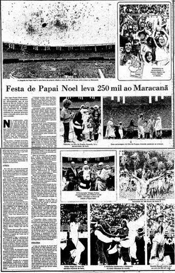 Torcidas do Vasco  FORÇA JOVEM 1979  FESTA DE PAPAI NOEL NO MARACANÃ 9e37a222c92de
