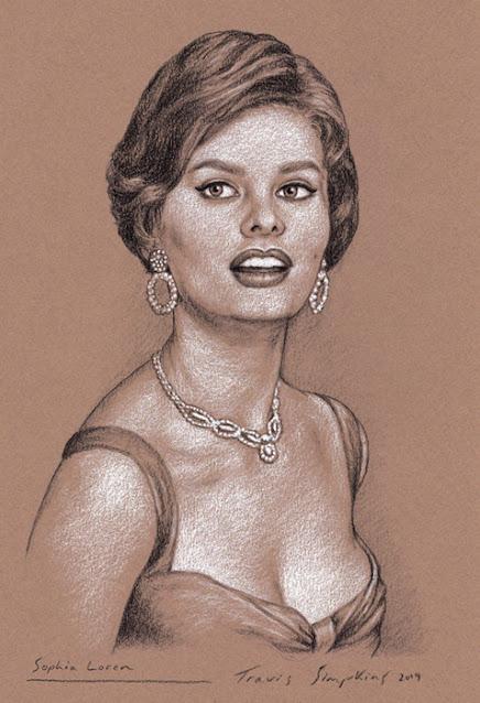 Sophia Loren. Italian Film Actress. Academy Award Winner. by Travis Simpkins