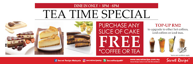 Secret Recipe Malaysia Tea Time Special Free Coffee Weekday Promo