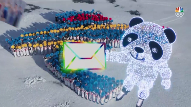 PyeongChang 2018 Winter Olympics Closing Ceremony digital mail flying panda