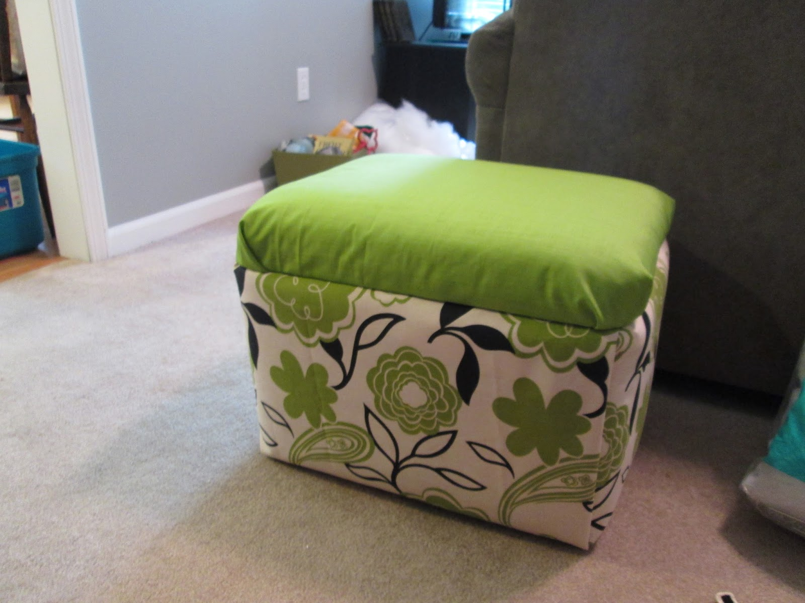 And Kitty Makes Three Project Styrofoam Cooler Ottoman