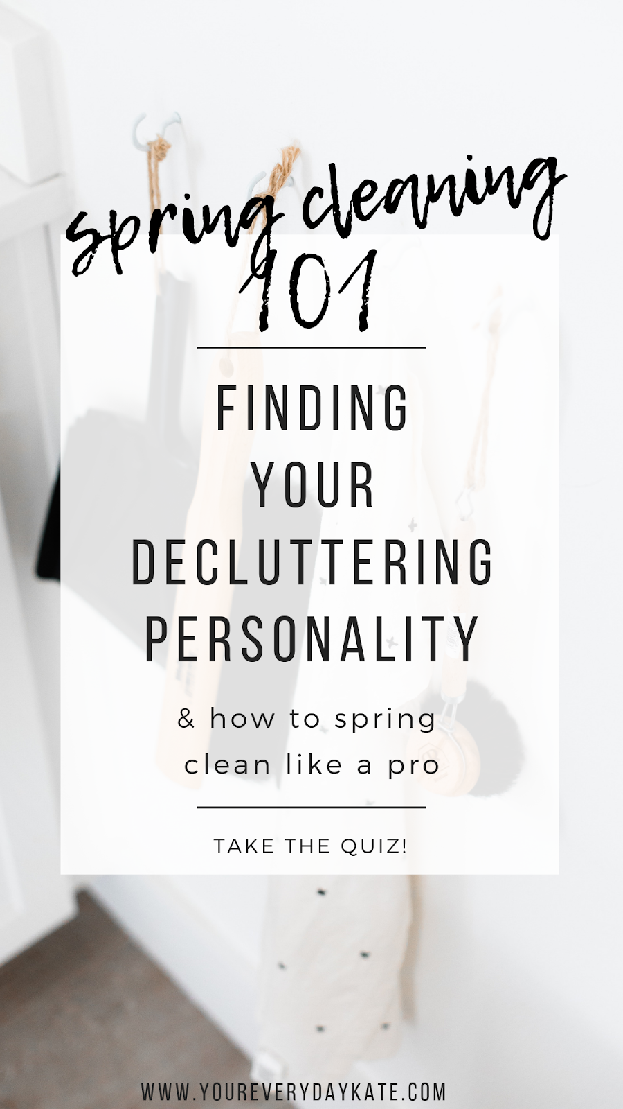 spring cleaning 101 decluttering pinterest image
