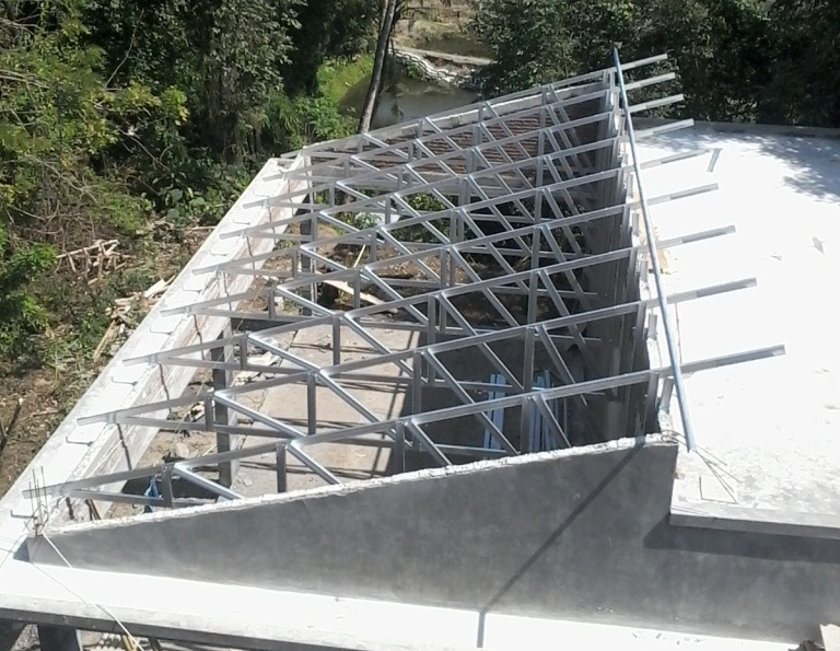 rangka baja ringan atap miring terasstudio blog com desain