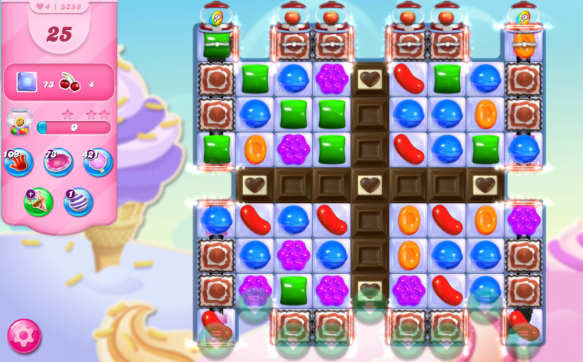 Candy Crush Saga level 5258