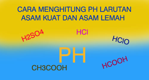 Cara Menghitung PH Larutan Asam Kuat Dan Asam Lemah ...