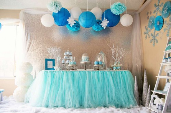 Fire Pixie Happenings Frozen Wonderland Party Decoration Ideas
