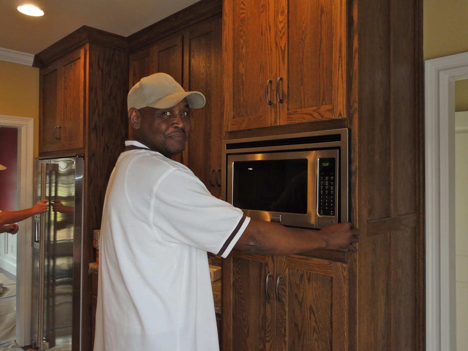 Wayne Thomas Of Athens Refrigeration Installing The Microwave And Trim Kit