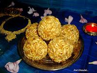 photo of Pori Urundai For Karthikai/Karthigai Deepam (Sweet Puffed Rice Balls)