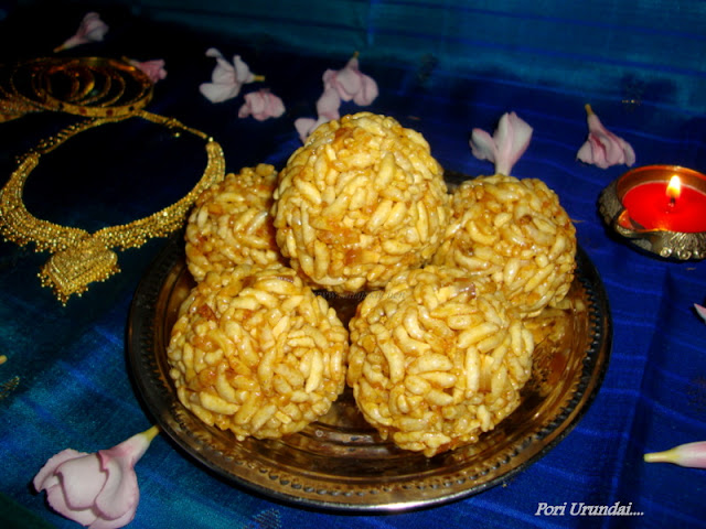 photo of Pori Urundai For Karthikai/Karthigai Deepam (Sweet Puffed Rice Balls)
