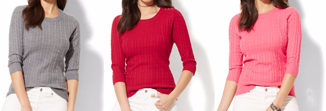 Cable Knit Crewneck $17 (reg $45)