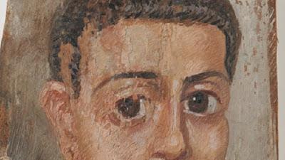 Two Egyptian mummy portraits restored