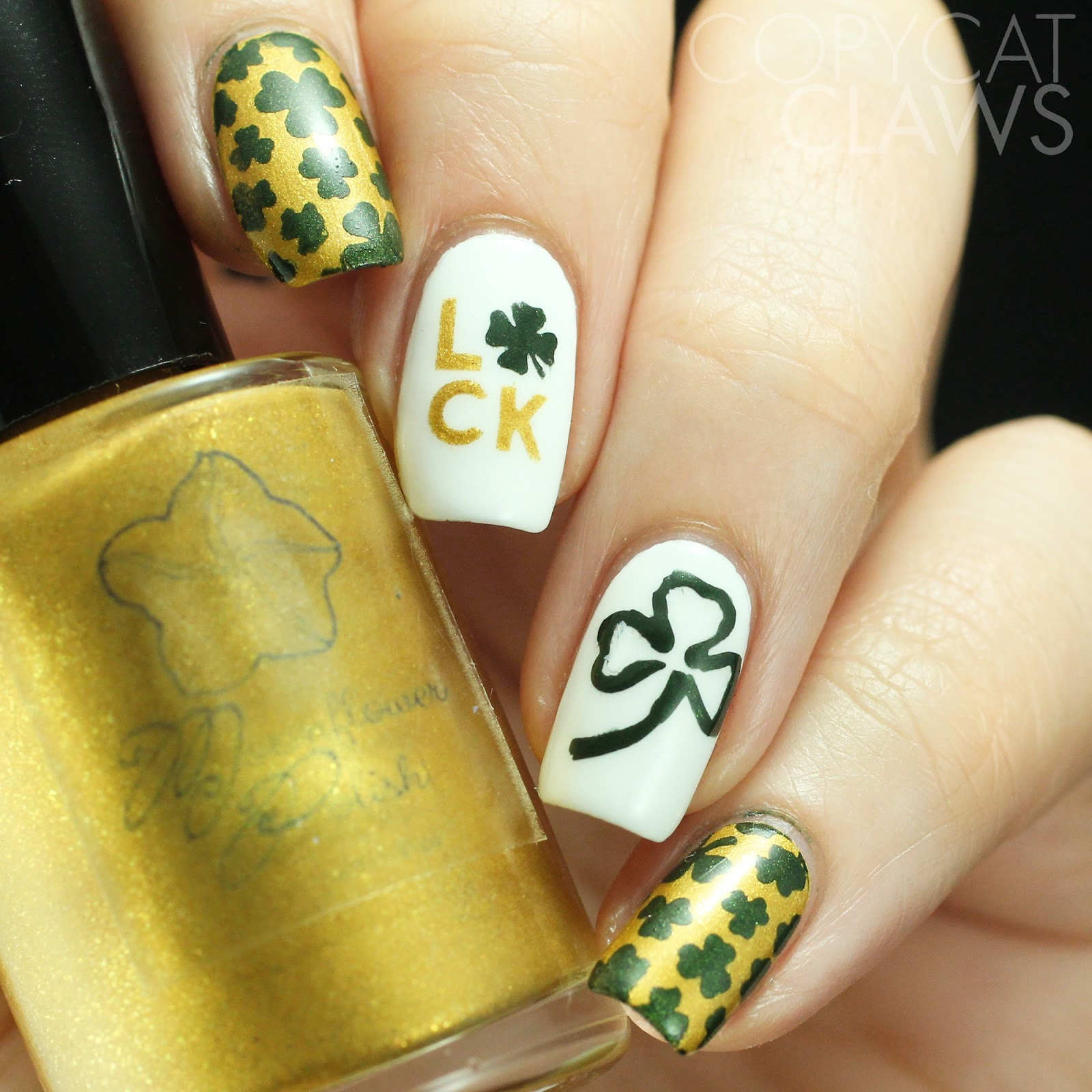 Copycat Claws: Whats Up Nails St. Patrick\'s Day Stencils