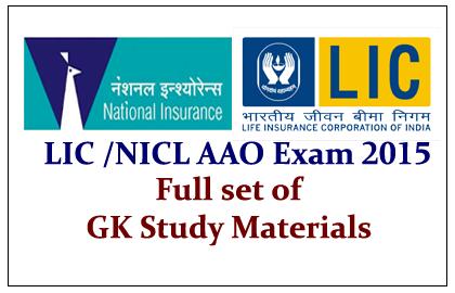 LIC/ NICL AAO Exam 2015