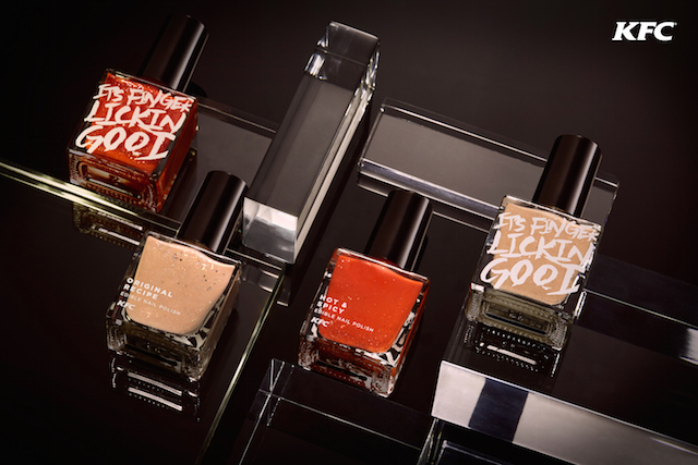 Edible Nail Polish from KFC Hong Kong