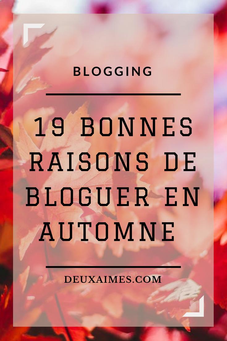 Idées de sujets pour bloguer en automne - Blogging astuces DeuxAimes