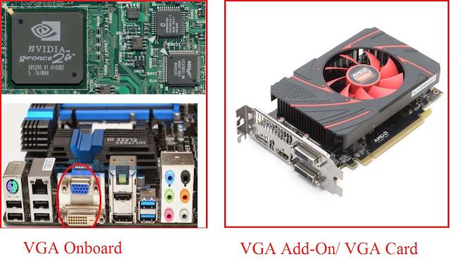 VGA onboard dan VGA Add-on