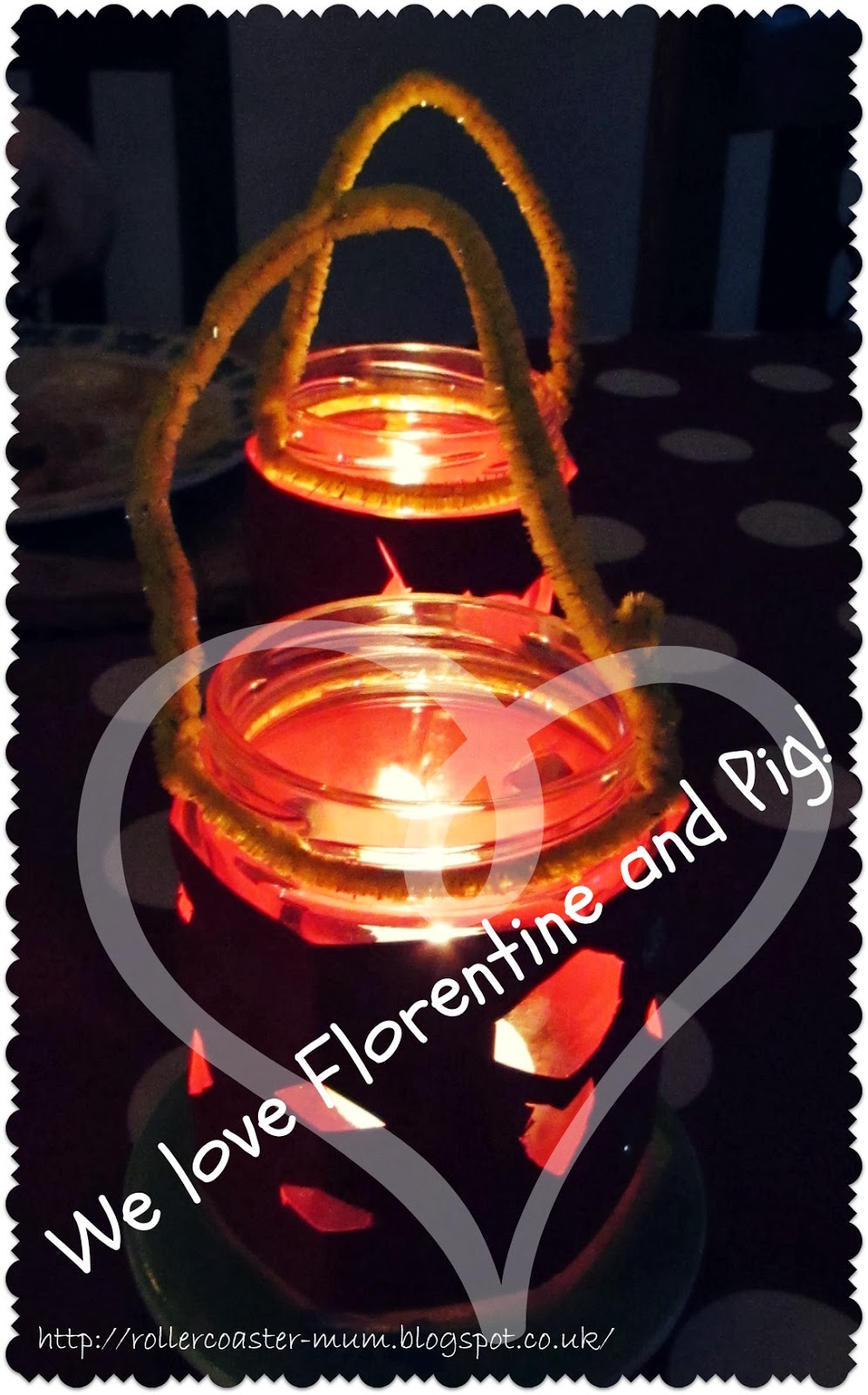 Florentine and Pig's Twinkly Jam Jar Lanterns