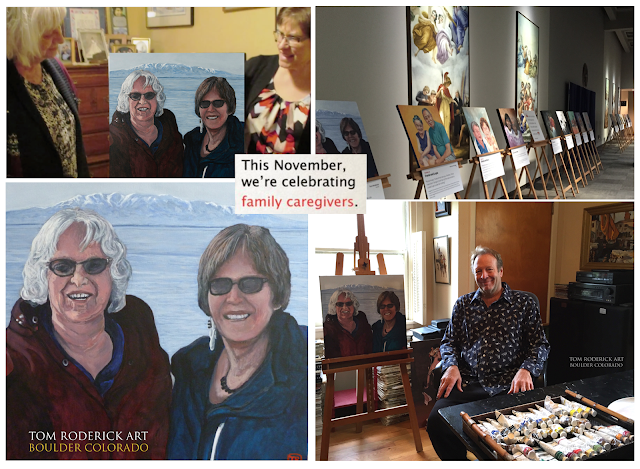 Alaskan Honored with Portrait of Care by Boulder portrait artist Tom Roderick