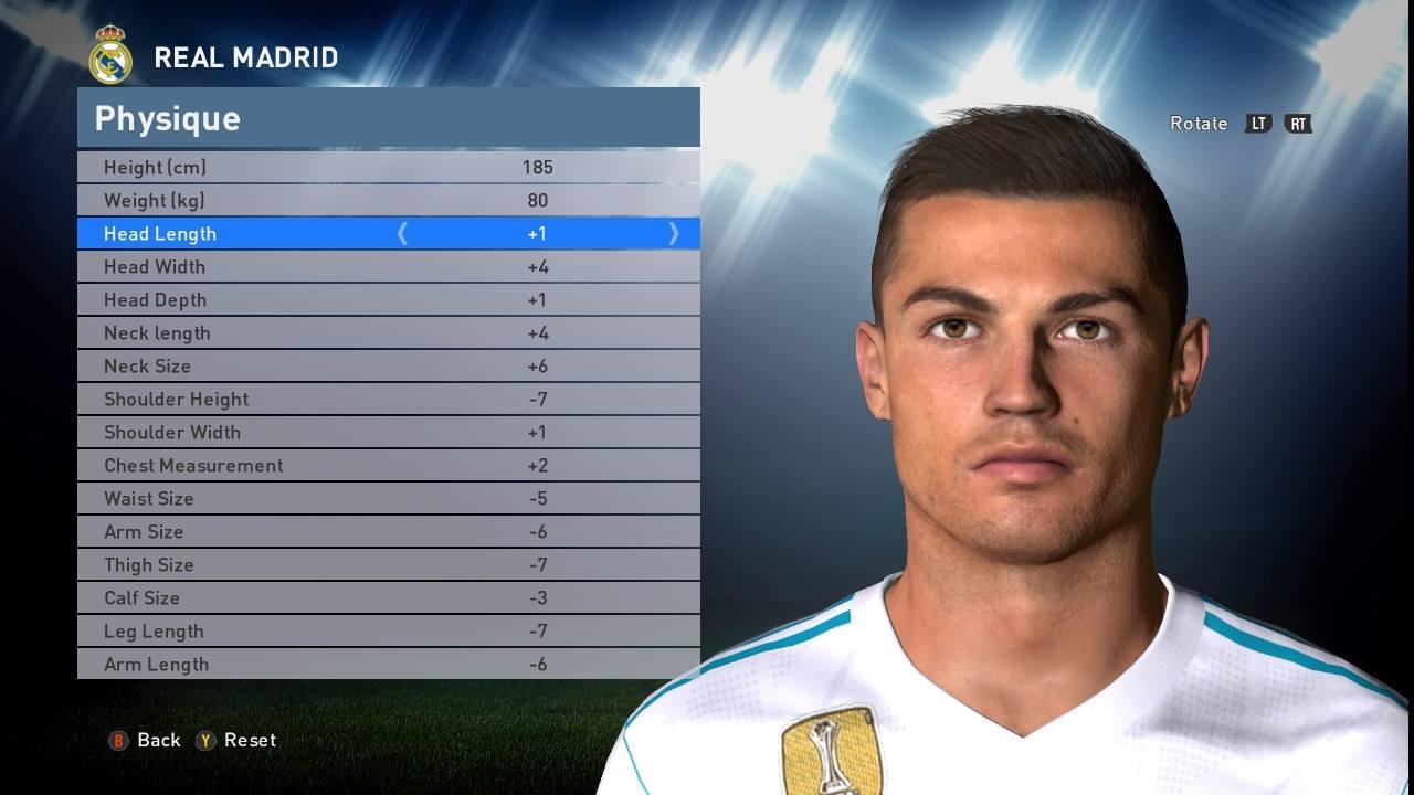 Ronaldo pes 2016 face by Shenawy