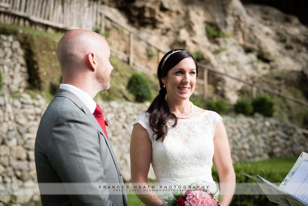 Wedding ceremony in Praiano